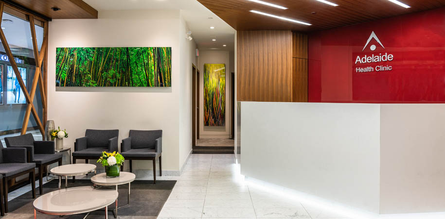 Adelaide Health Clinic reception area
