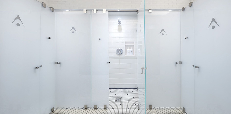 Showers in the Adelaide Club locker room