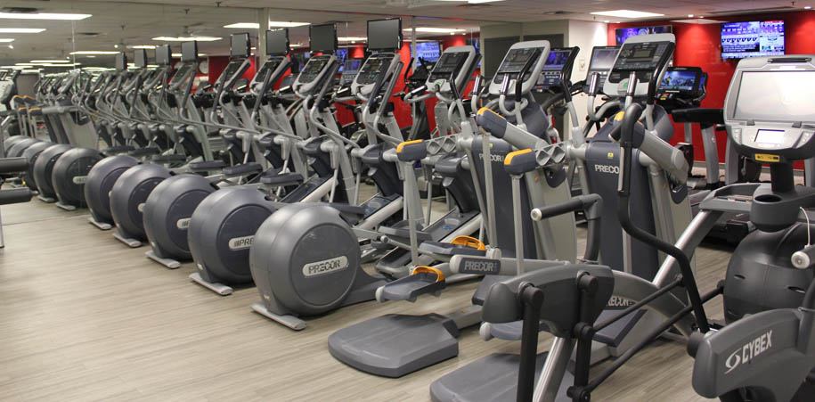 Cardio equipment in the Women's Gym