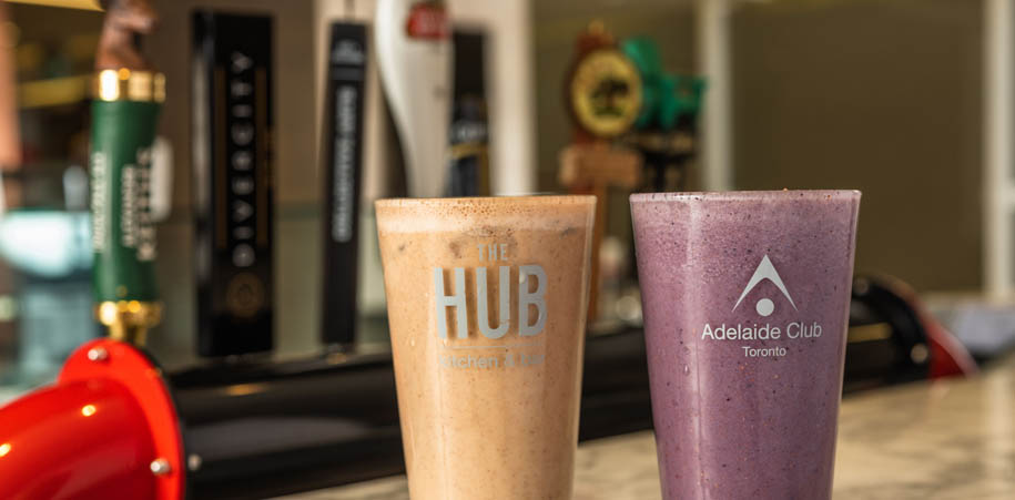 Two delicious smoothies served at the HUB